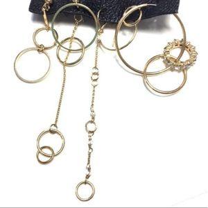 Free people hooped earring set